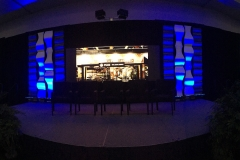 2 Projected Screens + 1 Customized LED Wall + Audio